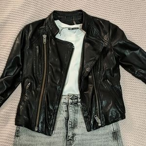 LINE DOT leather jacket